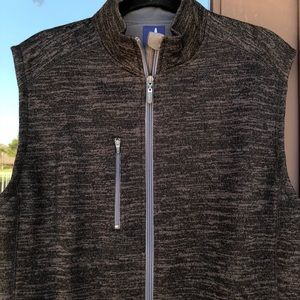 johnnie-O Tahoe 2-Way Zip Front Fleece Vest M